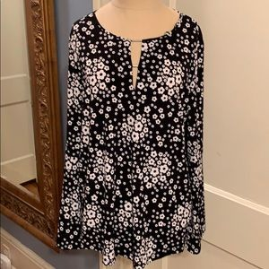 Michael Michael Kors black and white floral top
